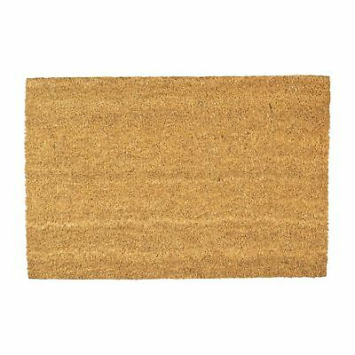 Door Mat Non Slip Pvc Coir 90 X 60cm Plain Indoor