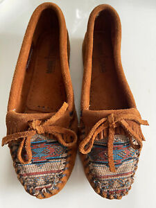 New Pendleton Vinatge Moccasin Minnetonka Classic Womens Flat Shoes Size 7