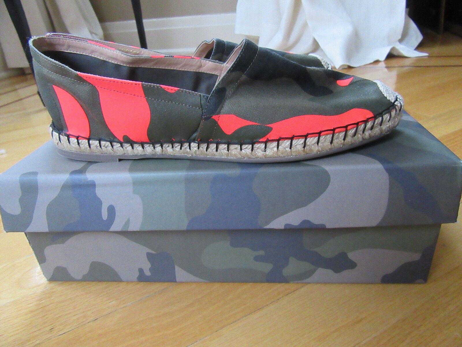 NiB Valentino Valentino Valentino Pink Camouflage Print Espadrille Flat Slip on shoes Size 39, US 9 62c291