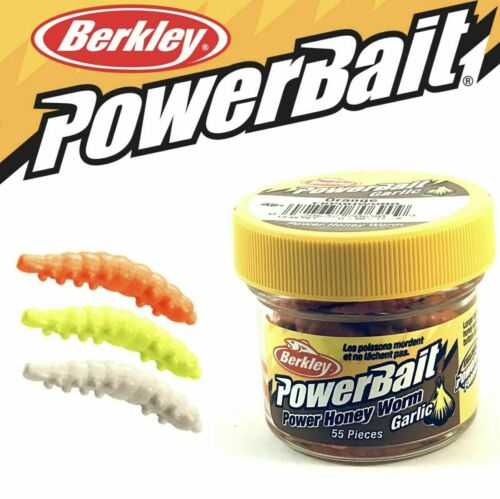ALL COLOURS BERKLEY POWERBAIT POWER  GARLIC HONEY WORM
