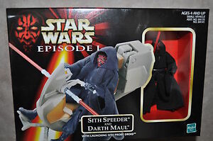 STAR-WARS-EPISODE-1-SITH-SPEEDER-amp-DARTH-MAUL-W-LAUNCHING-SITH-PROBE-DROID-MISB