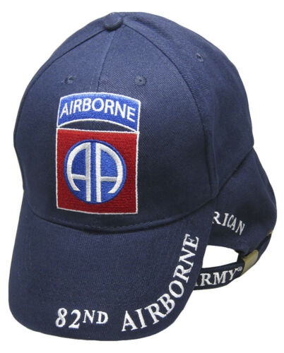 Army Airborne All American 82nd Division Navy Blue Embroidered Cap Hat #2
