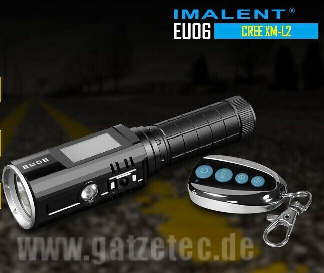 Imalent EU06 RUV CREE XM-L2 LED Taschenlampe mit Multidisplay und Fernbedienung