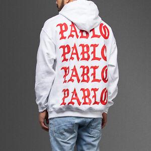 1e2dcc8394c7 White Paris 4 The Life Of Pablo TLOP I Feel like Pablo Hoodie Kanye ...
