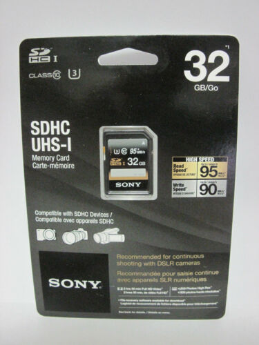 Sony 32 GB FS PXW XAVC S UHS3 4K HD Tarjeta SD para Sony HXR NX80 Z90V Z150 X70 XDCAM
