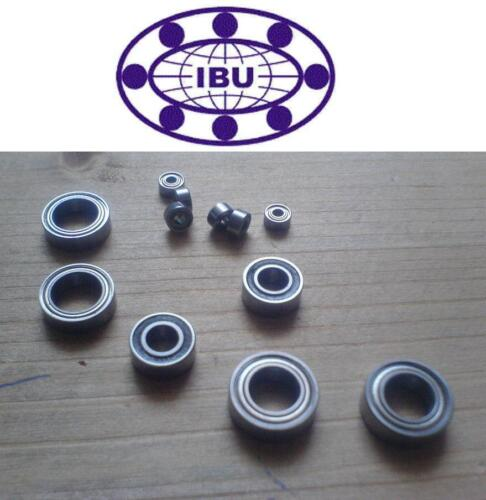 4 Stk IBU Miniatur Kugellager MR137 ZZ Rillenkugellager L1370.ZZ  7x13x4 mm