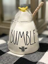 Rae Dunn By Magenta HONEY Ceramic LL Honey Pot With Wooden Dipper