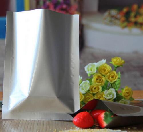 100 Silver Aluminum Foil Mylar Bag Vacuum Bag Sealer Food Storage Various Size