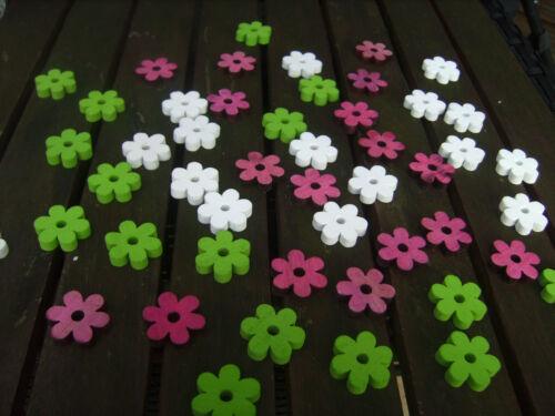 50 Holzblüten Holz Blumen Holzscheiben 3cm Hochzeit Blüten Kommunion Sommerfest