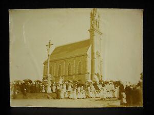Chapelle Des Marins Un Pardon église D'erquy Photographie C1900 Bretagne Rare Usines Et Mines