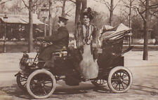 Stage Actress Arlette Dorgere In Her Automobile Antique Photo Postcard