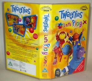 Tweenies-Let-039-s-Play-CBeebies-Vhs-Tape-amp-Case-Cert-Uc-Collectable-VHS