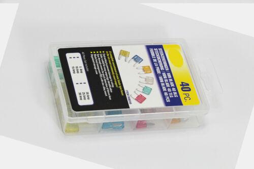 40 x Voiture Mini Fusible Set pratiquement Stecksicherung New
