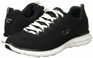 Women's Skechers Synergy Safe & Sound Casual Shoe 11972/BKW Black/ White