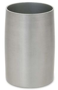 Titan Brushed Nickel Tumbler Bath Cup Aluminum, Brush Gargle Toothbrush Holder