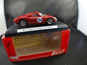 Best-Model-ref-9119-Ferrari-250-LM-version-Targa-Florio-1966-174-1-43-neuf-mint