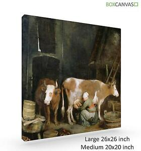 Dutch-Golden-Age-Canvas-S11-ArtB-Gerard-Ter-Borch-A-Maid-Milking-A-Cow-I