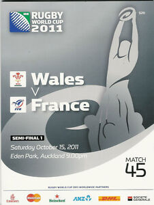 WALES-v-FRANCE-SEMI-FINAL-RUGBY-WORLD-CUP-2011-PROGRAMME-MATCH-no-45