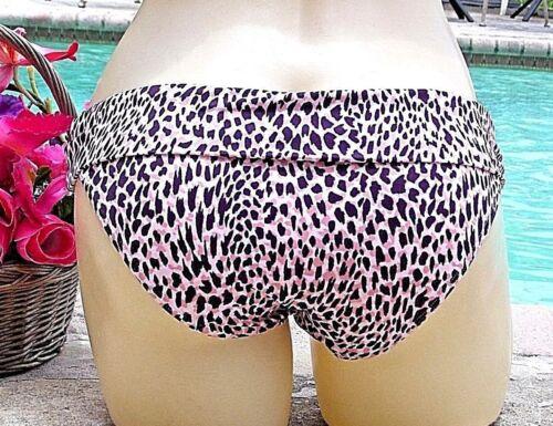 Victoria/'s Secret UNFORGETTABLE DEMI Halter LEOPARD Bikini SWIM 34C+Foldover M