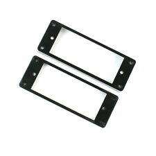 Set of 2 Mini Humbucker Pickup Mounting Rings /Bridge Neck/ ,Curved Bottom BLACK