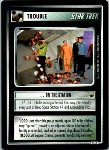 Star Trek The Trouble With Tribbles CCG Common Card #141C On The Station