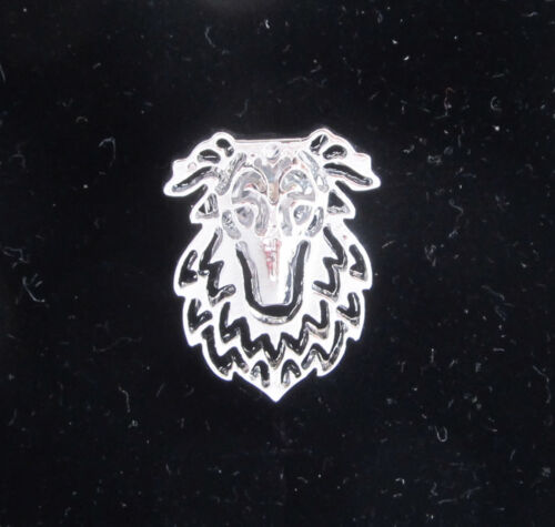 Stud Back Borzoi Dog Brooch or Pin Fashion Jewellery Silver Plated