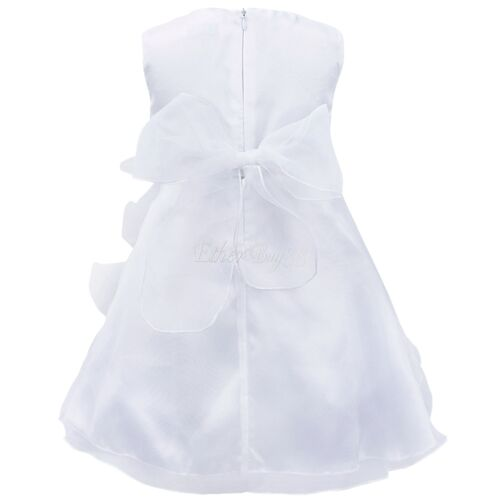 UK Baby Flower Girl Christening Baptism Wedding Princess Ruffle Tutu Party Dress