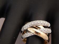 Vintage 18k Dual Tone Gold Diamond Wrap Ring .75tcw F/VS2 Cocktail Unique Estate