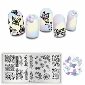 Harunouta-Nail-Art-Stamping-Plate-Rectangle-Flower-Nail-Image-Stamp-Stencil-L075