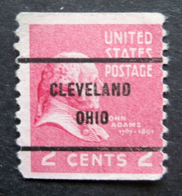 Sc 841 2 Cent John Adams Issue Precancel CLEVELAND OHIO Bc19