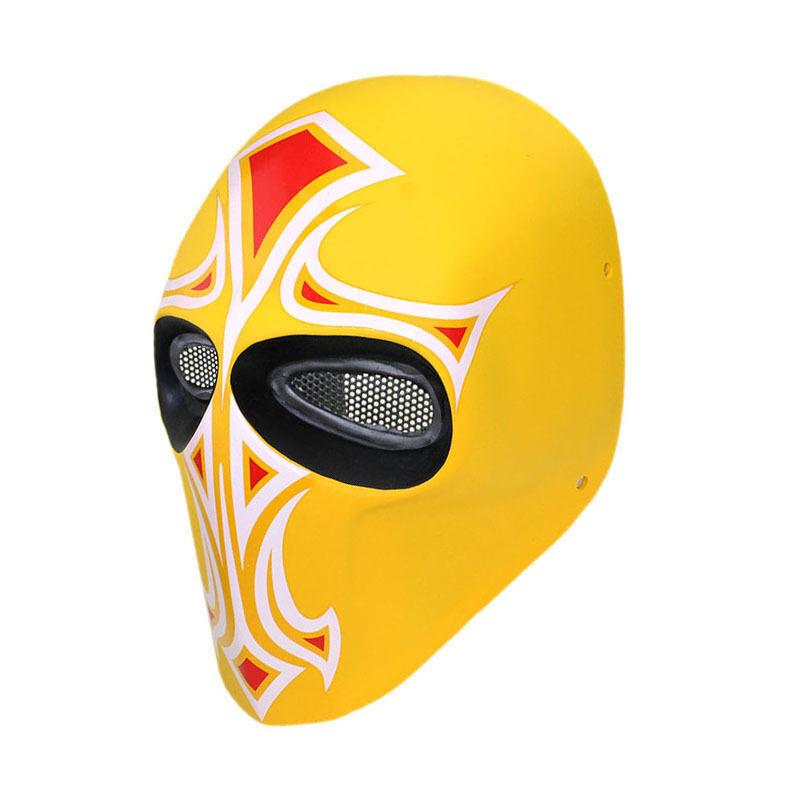 Haute qualité en fibre de verre résine Maille Eye Airsoft CS Paintball Full Face Mask L0449
