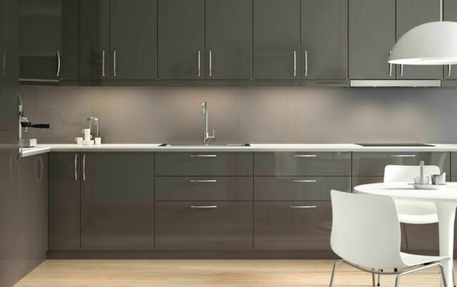 Ikea Ringhult High Gloss Grey 15x15 Cabinet Door Discontinued Color For Sale Online Ebay