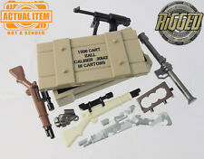 """Brickforge USA WW2 """"Weapons Crate"""" Accessory Pack for Lego Minifigures NEW"""