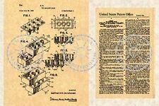 US Patent for the LEGO Building Block-Brick LEGOS #493
