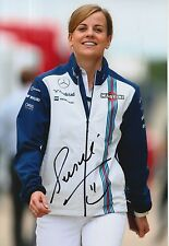 Susie Wolff Hand Signed 12x8 Photo Martini Williams F1.
