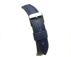 Dark-Blue-water-resistant-divers-silicon-watch-strap-18mm