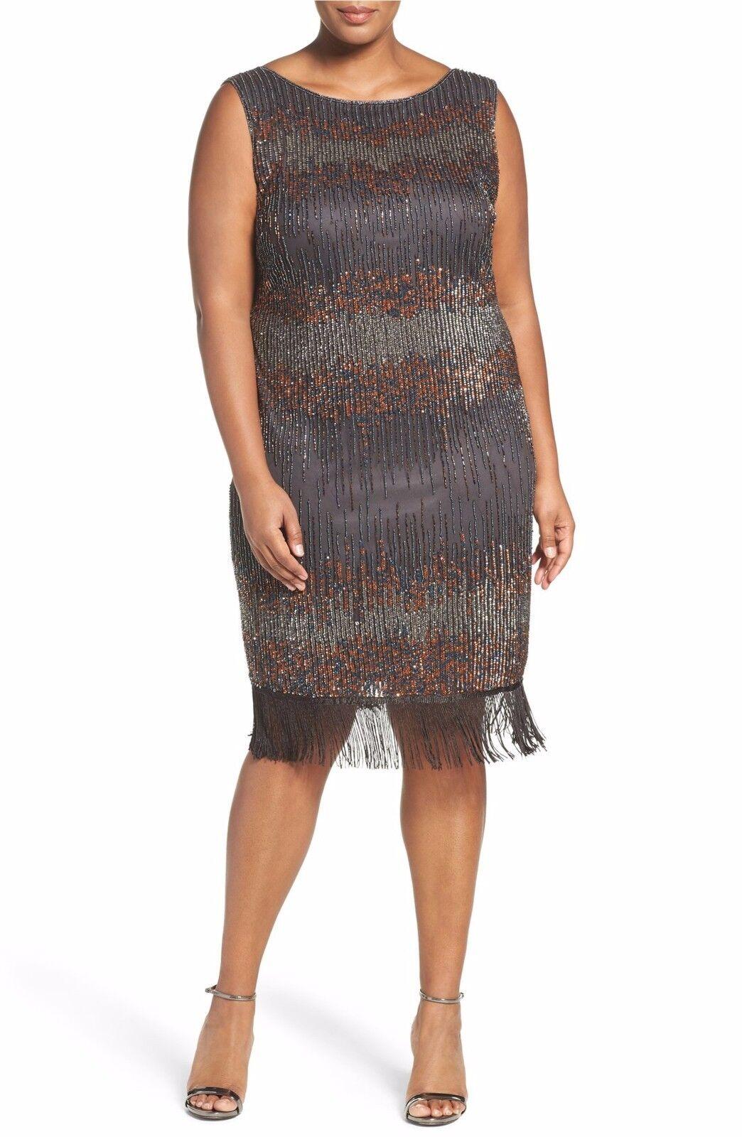 Pissaro Nights Embellished Sheath Dress (Plus Size) (size 18W)
