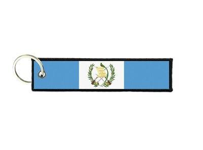 Keychain stripe key lanyard flag keyring ring car jdm band remote sudan
