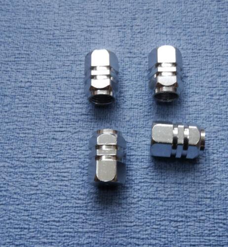 AUDI A6 metallo nero polvere TAPPI VALVOLA PNEUMATICO RUOTA in alluminio solido COPERCHIO ESAGONALE