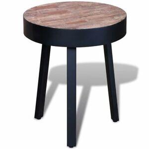 Vintage Side Table Handmade Coffee Table Round Teak Wood ...