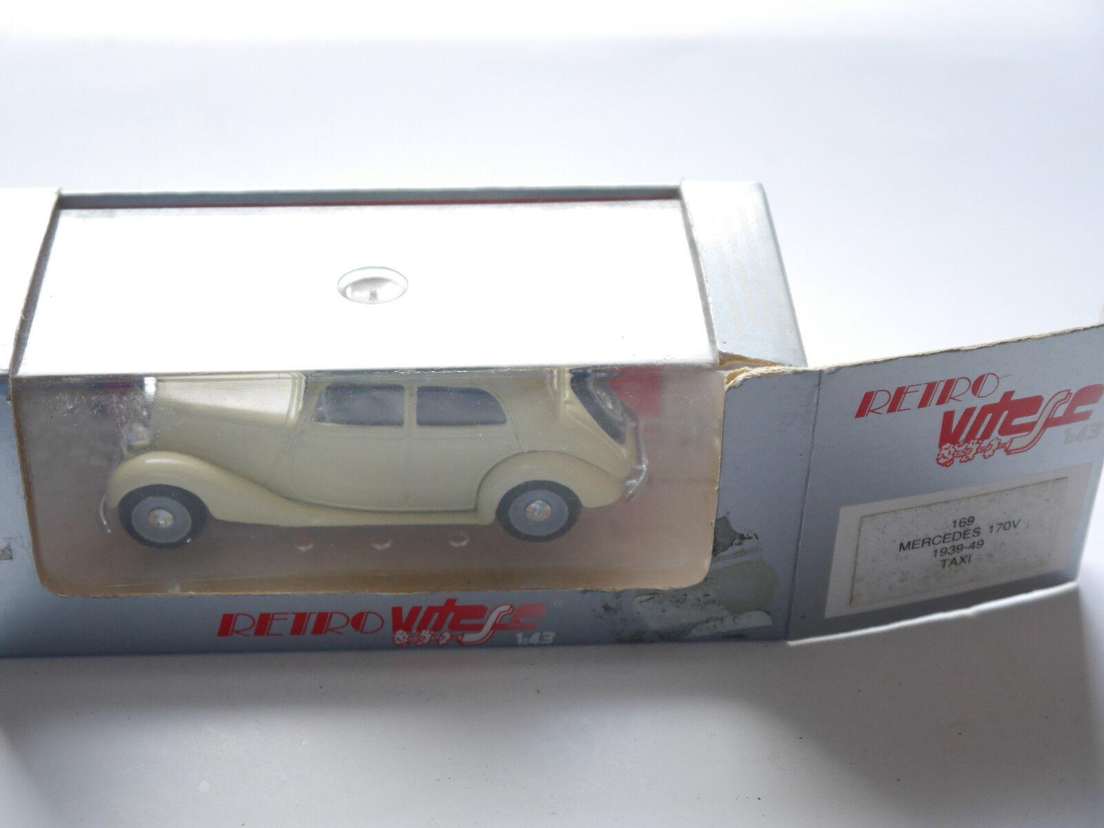 Mercedes w 136 tipo 170 V 170v Limousine Saloon taxi taxi taxi 1939-1949 vitesse 1:43 Boxed f120e2