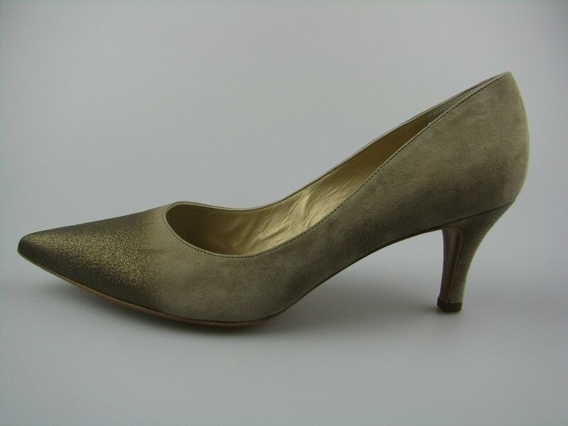 Damen Pumps von Peter Kaiser Soffi Taupe Flash Leder  Gr .3