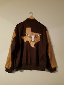 Mens State Xl Varsity Texas Lone Suede 3d The Logo Jacket Longhorn Star rFcqxPrwpt