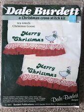 Ruffle and Lace Towels. Geese Feeding Tea Towels CK241 by Burdett Publications 1985 Counted Cross Stitch Tea Towels Dale Burdett Designer