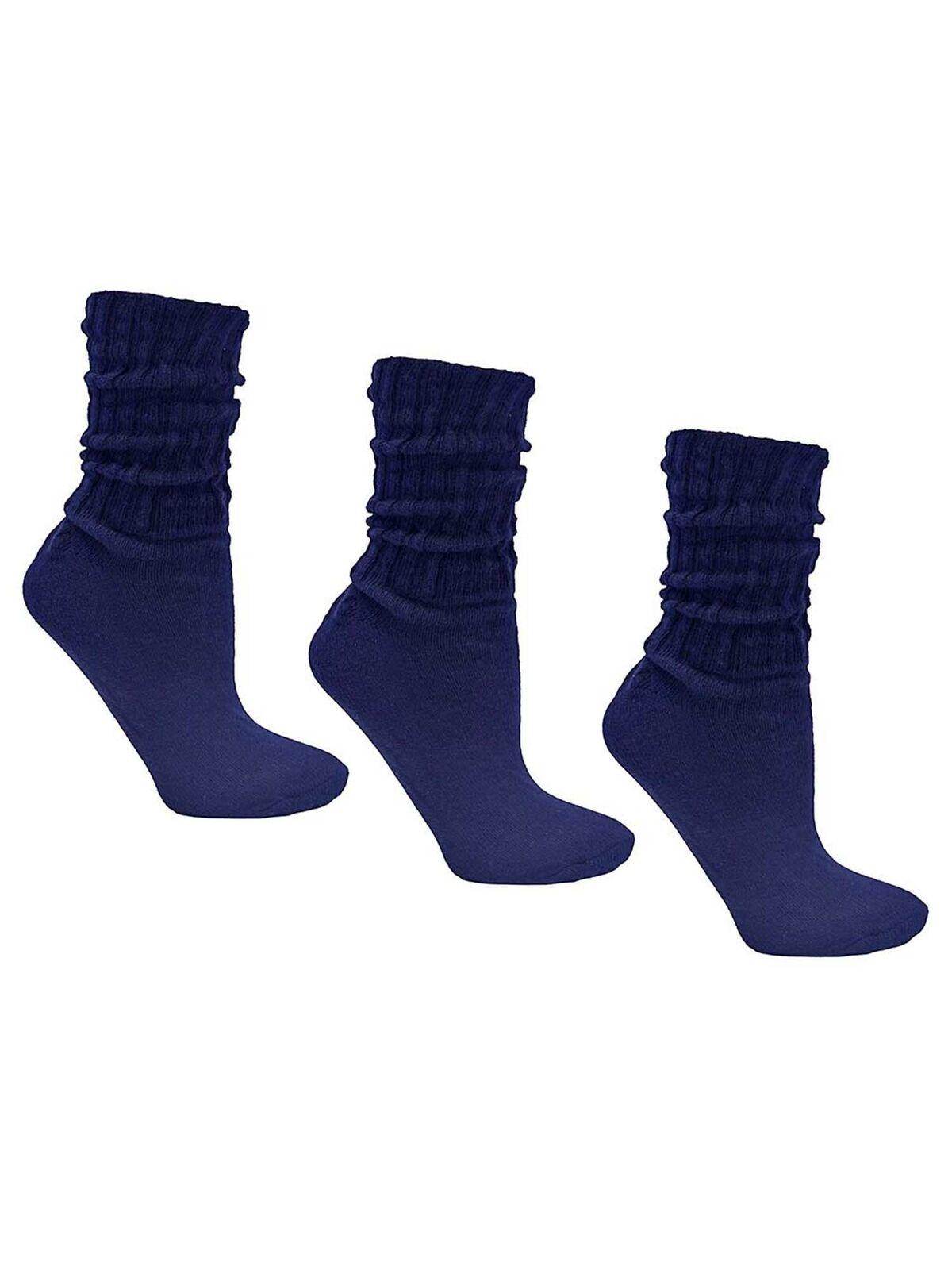 24 PAIRS WOMEN FOOTLOCKER SLOUCH SOCKS WOMEN SHOES SIZE 9-13 WHITE COTTON 85/%
