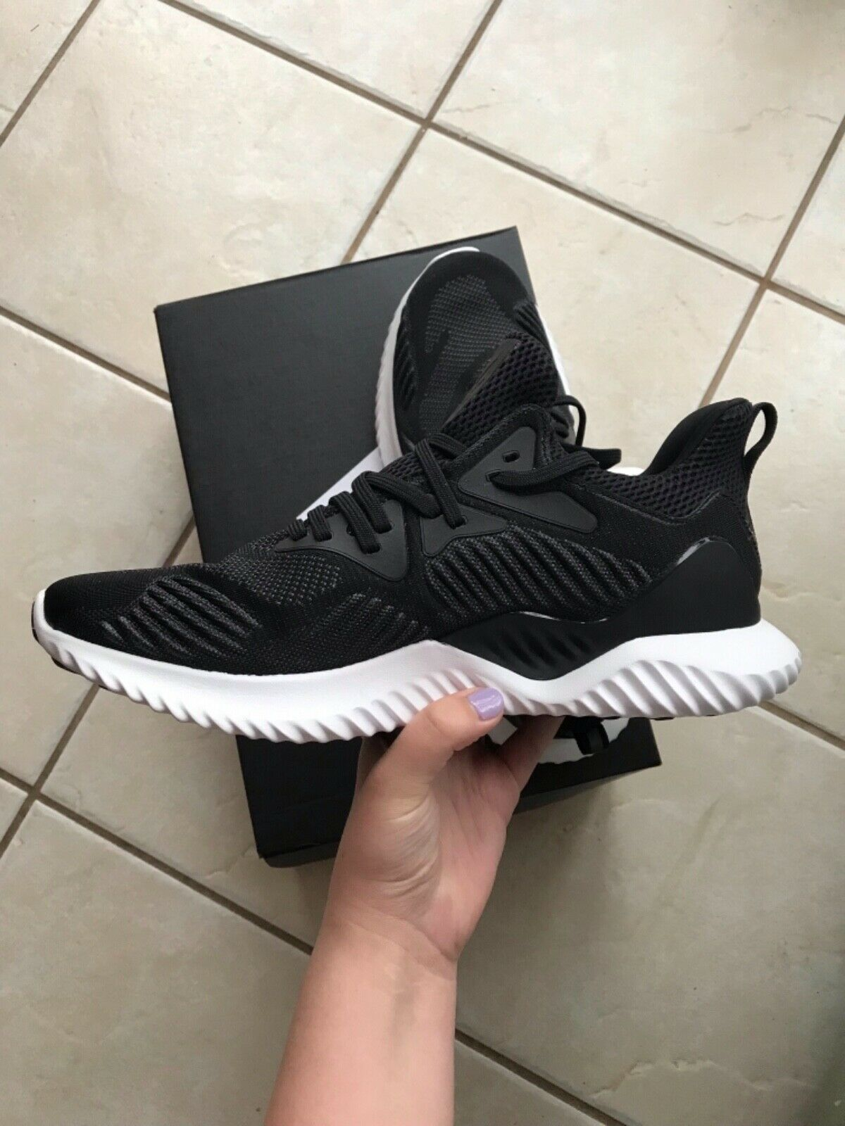 Adidas alphabounce, black, size 10, men's, running shoes, new with box