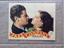 Fast Company 1938 Melvyn Douglas & Florence Rice  MGM. Co-Stars  Portrait
