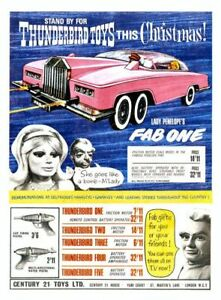 Vintage Lady Penelope FAB1 Toy A3 Poster Reprint