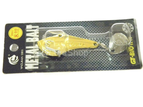 Spin Sonic spin Tail Metal Fishing Lures For Bass fishing Silver Golden SP9