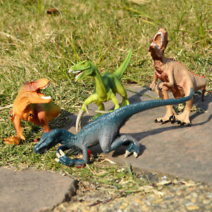 4pcs Assorted Dinosaurs Toy ECO Plastic Action Figure Model Kids Children Gift